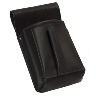 Kožená číšnická kapsa, pouzdro - černá