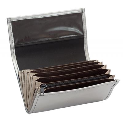 Čašnícka peňaženka - koženka, strieborná