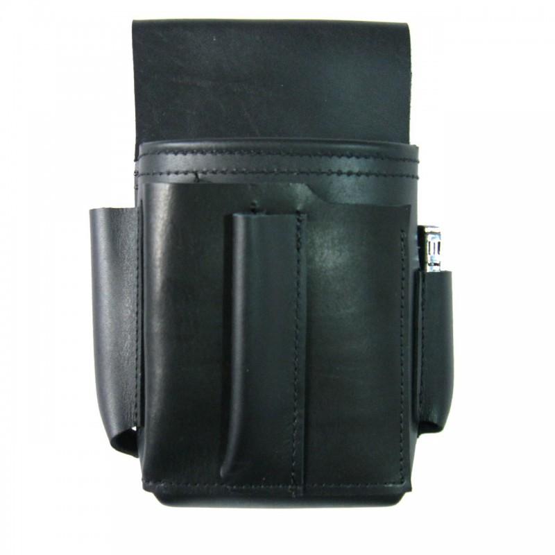 Leather waiter holster, case – cigarette lighter and bottle opener pockets