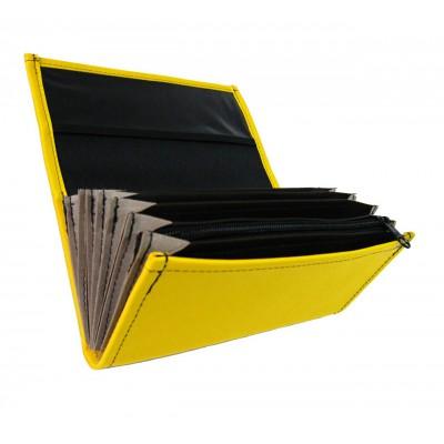 Číšnická peněženka - koženka, žlutá