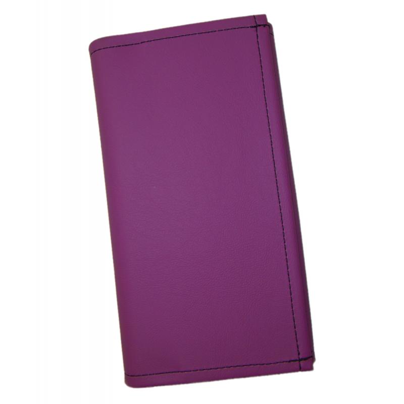 Číšnická peněženka - 2 zipy, koženka, fialová
