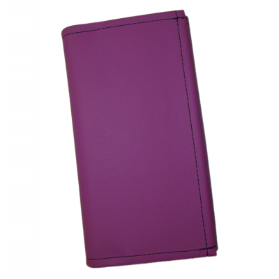 Číšnická peněženka - koženka, fialová