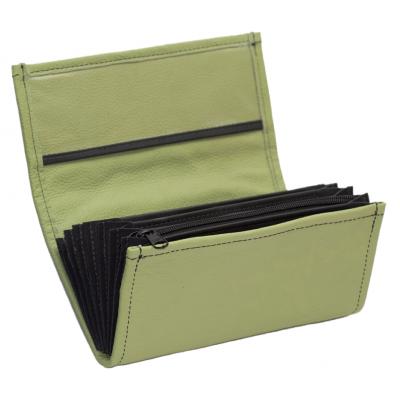 Kožená peňaženka - olivovo zelená