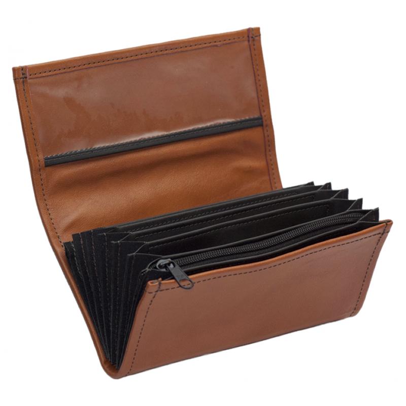 Leather waiter's purse - terracotta