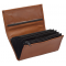 Leather waiter's purse - terracotta