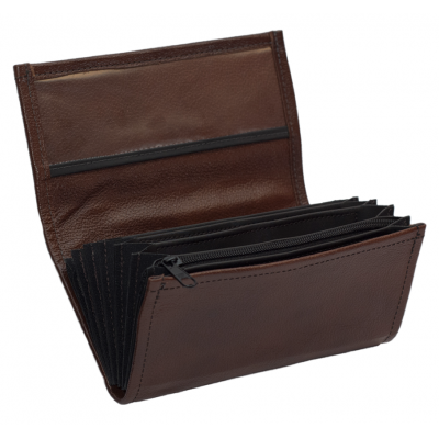 Leather waiter's purse - brown