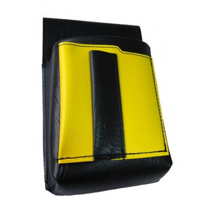 Číšnické pouzdro, kapsa s barevným prvkem - koženka,žlutá