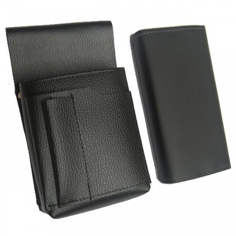 Čašnícka sada - peňaženka (čierna, imitácia kože, 2 zipsy) a puzdro New Barex