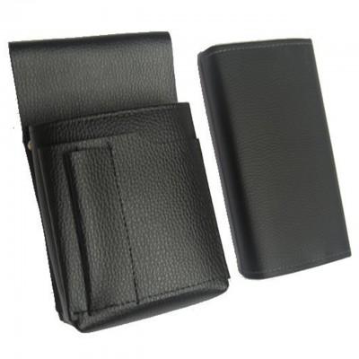 Číšnická sada - peněženka (černá, imitace kůže) a pouzdro New Barex
