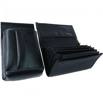 Kožený komplet :: peňaženka (čierna) + púzdro