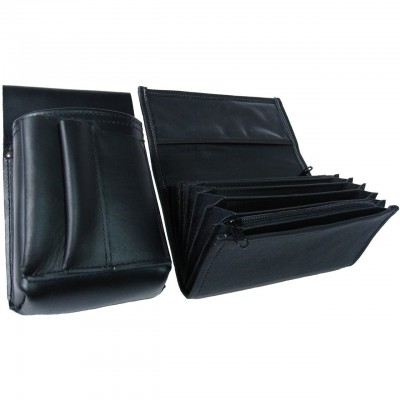 Leather set :: pocketbook (black) + holster