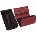 Leather set :: pocketbook (red) + holster