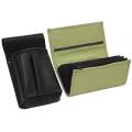 Leather set :: pocketbook (olive green) + holster