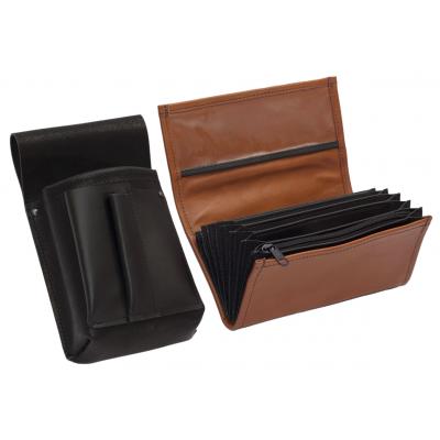 Lederkomplett :: Brieftasche (terrakota) + Kellnertasche