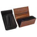 Kožený komplet :: peňaženka (terakota) + púzdro