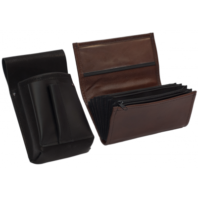 Leather set :: pocketbook (brown) + holster