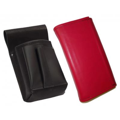 Leather set :: pocketbook (pink) + holster