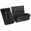 Leather set :: pocketbook (brown/black) + holster