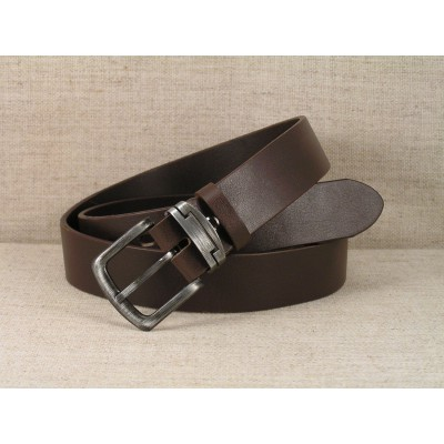 00 Jeans Leather Belt - brown without stitching